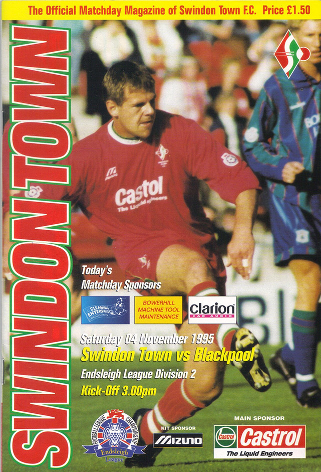 Saturday, November 4, 1995 - vs. Blackpool (Home)