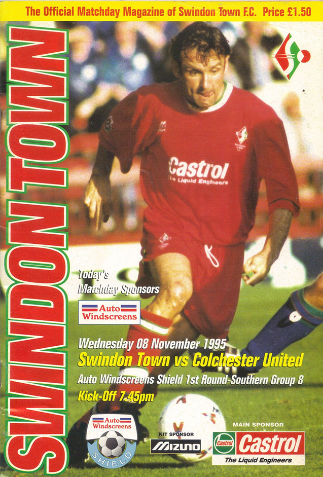 Wednesday, November 8, 1995 - vs. Colchester United (Home)