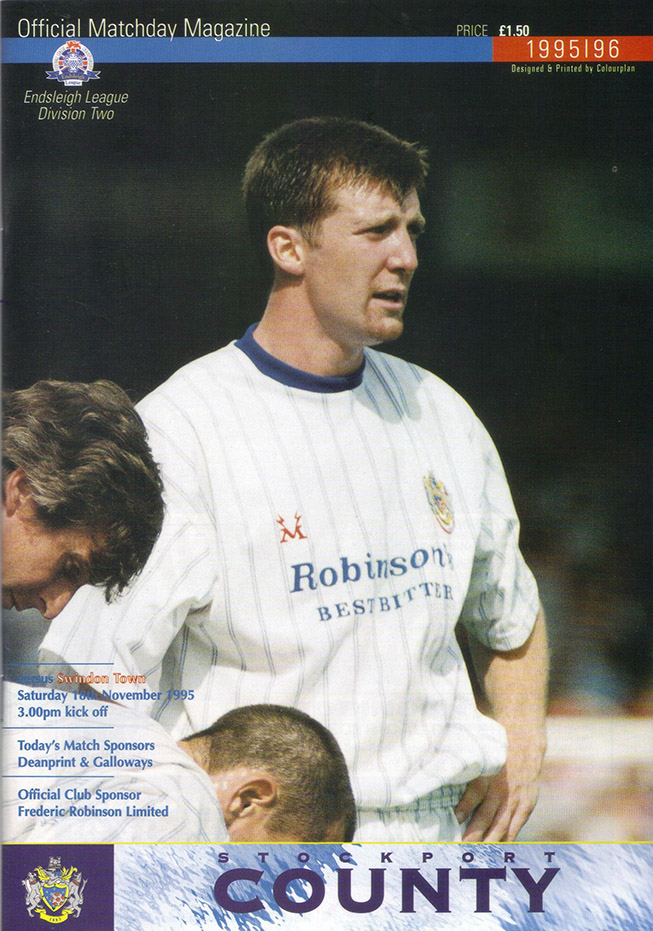 Saturday, November 18, 1995 - vs. Stockport County (Away)