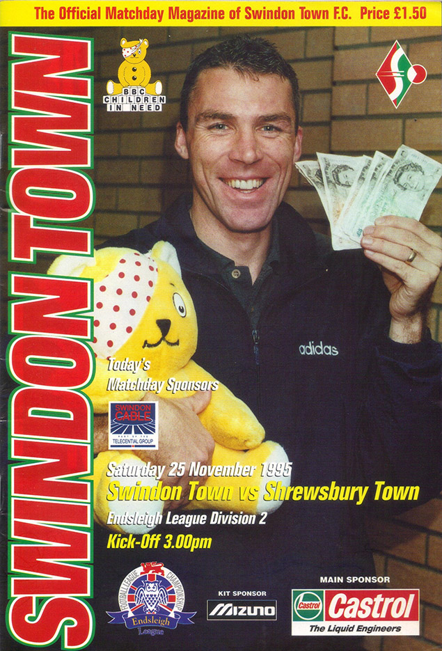 Saturday, November 25, 1995 - vs. Shrewsbury Town (Home)