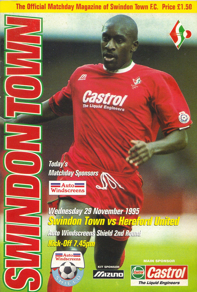 Wednesday, November 29, 1995 - vs. Hereford United (Home)
