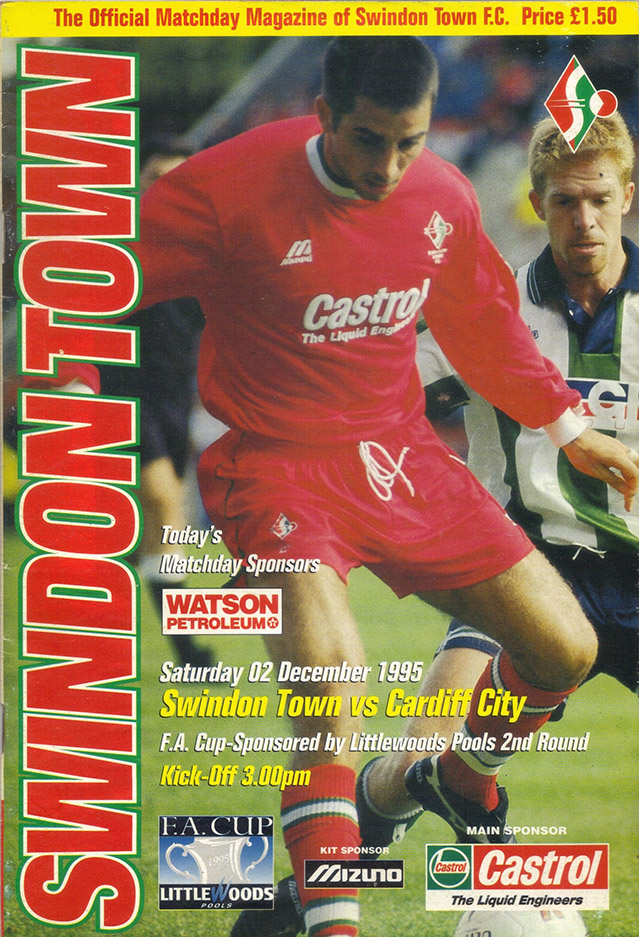 Saturday, December 2, 1995 - vs. Cardiff City (Home)