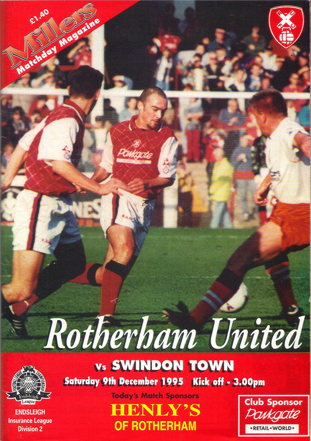 Saturday, December 9, 1995 - vs. Rotherham United (Away)