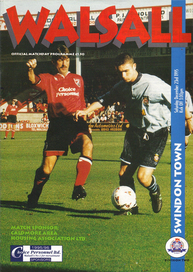 Saturday, December 23, 1995 - vs. Walsall (Away)