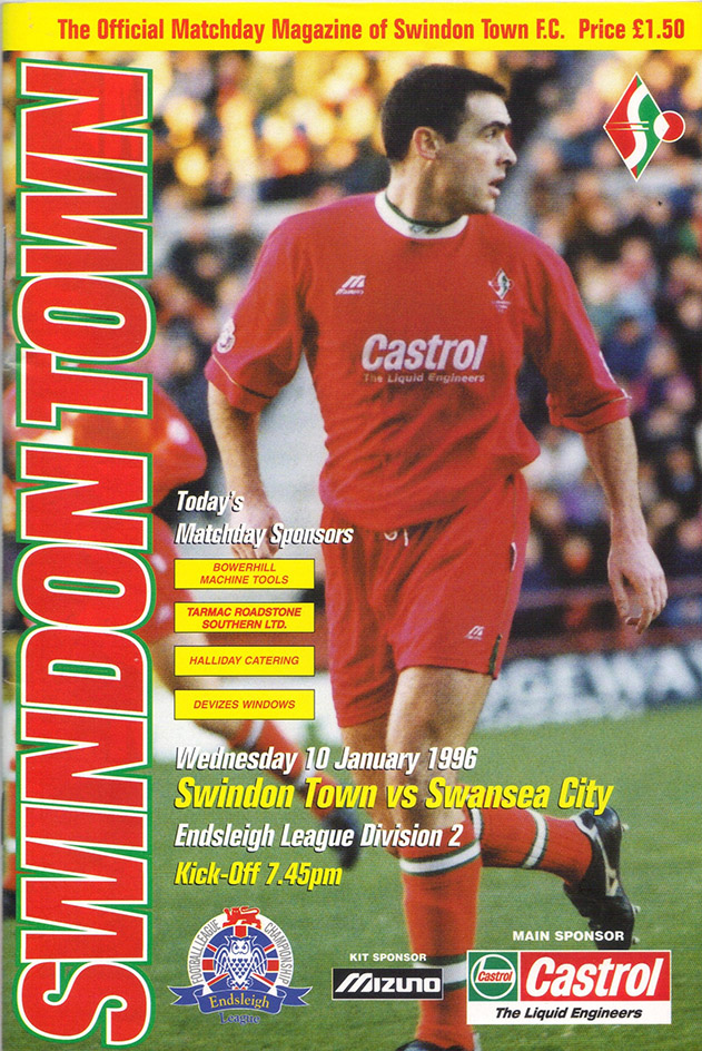 Wednesday, January 10, 1996 - vs. Swansea City (Home)