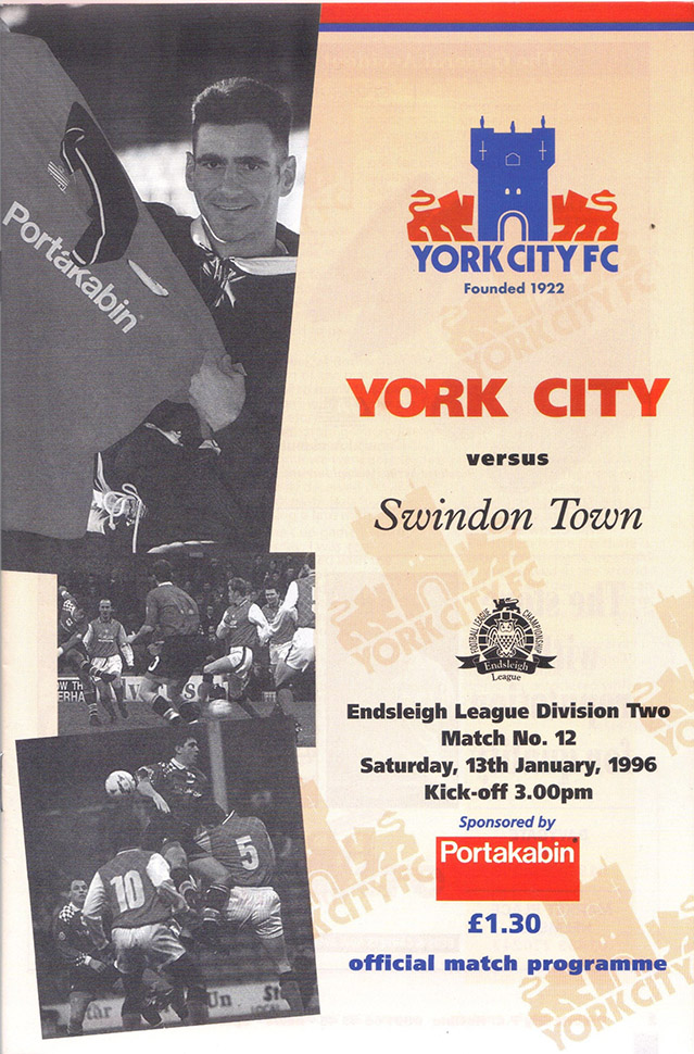 Saturday, January 13, 1996 - vs. York City (Away)
