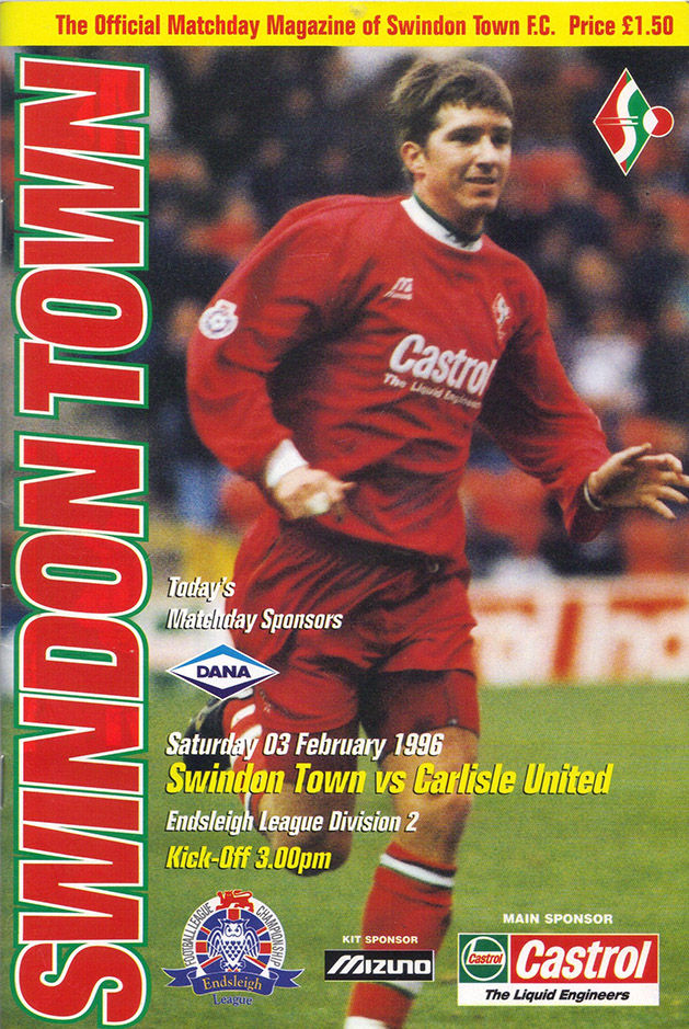 Saturday, February 3, 1996 - vs. Carlisle United (Home)