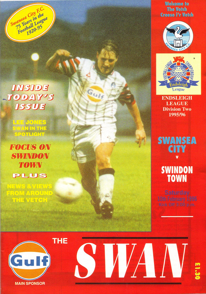 Saturday, February 10, 1996 - vs. Swansea City (Away)