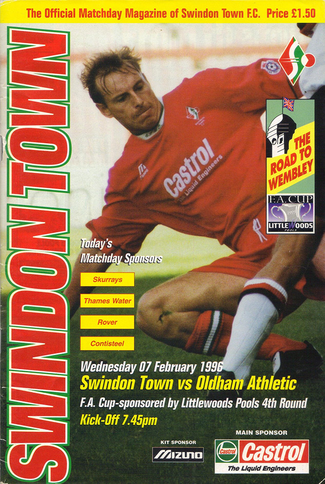 Monday, February 12, 1996 - vs. Oldham Athletic (Home)