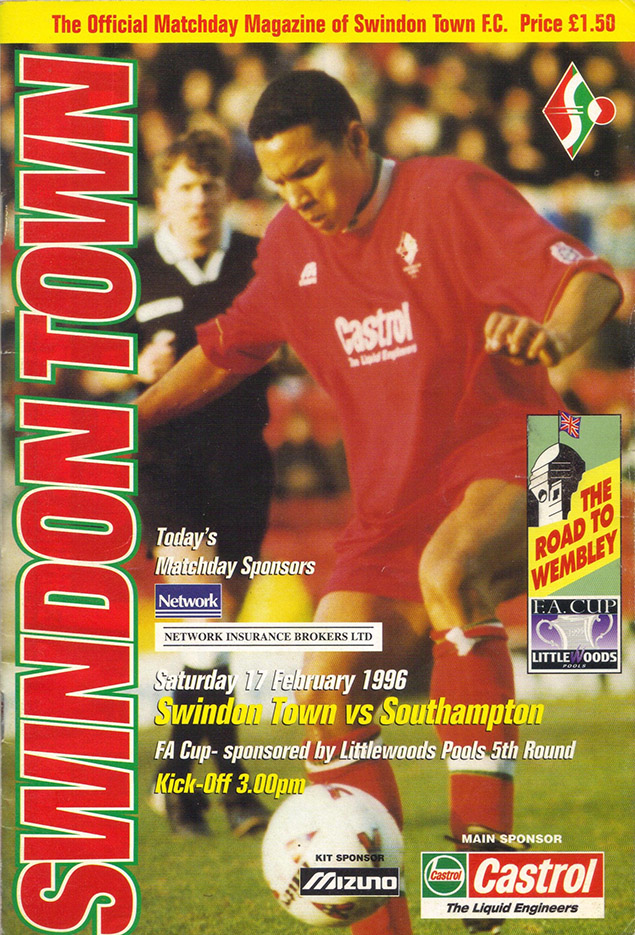 Saturday, February 17, 1996 - vs. Southampton (Home)
