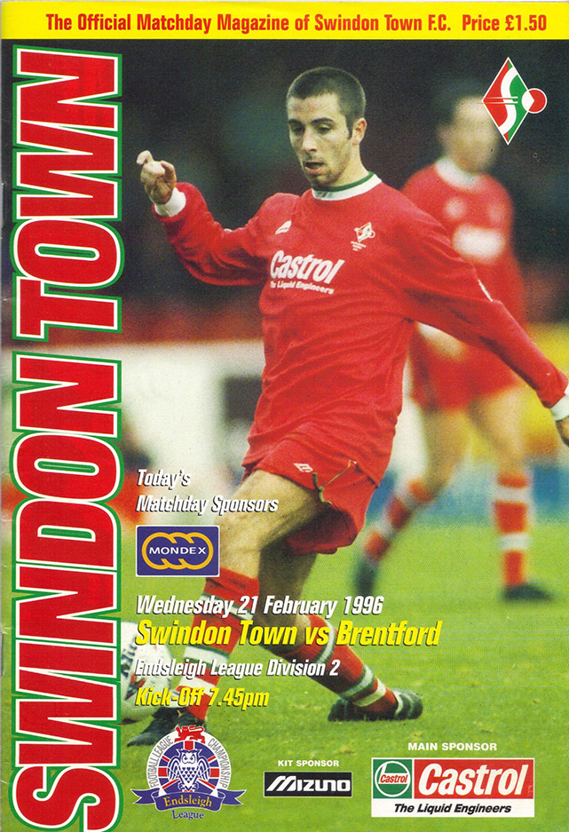 Wednesday, February 21, 1996 - vs. Brentford (Home)