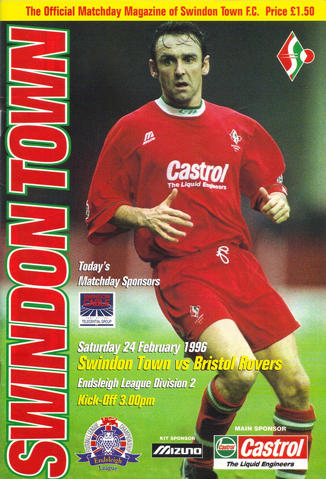 Saturday, February 24, 1996 - vs. Bristol Rovers (Home)