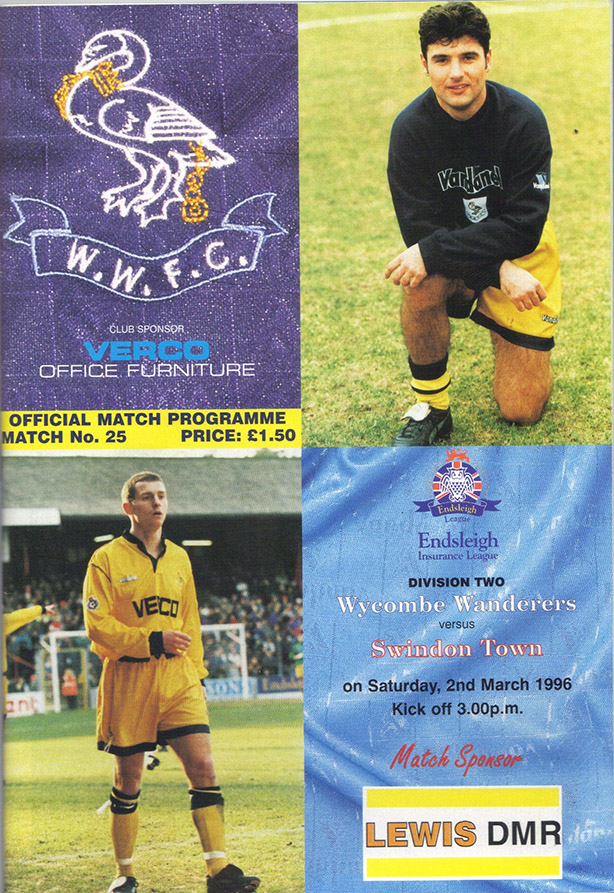Saturday, March 2, 1996 - vs. Wycombe Wanderers (Away)