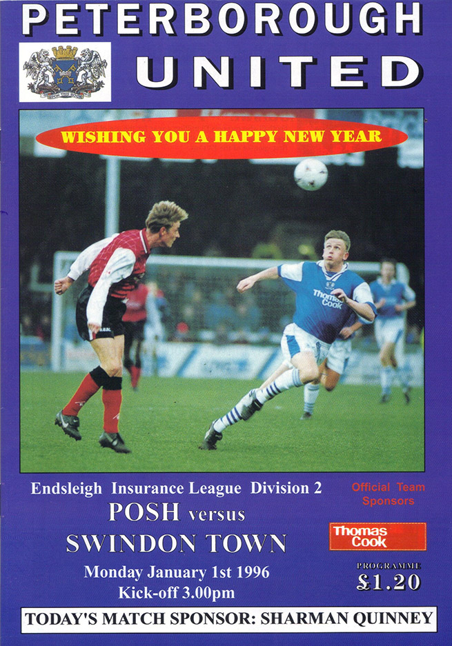 Tuesday, March 5, 1996 - vs. Peterborough United (Away)