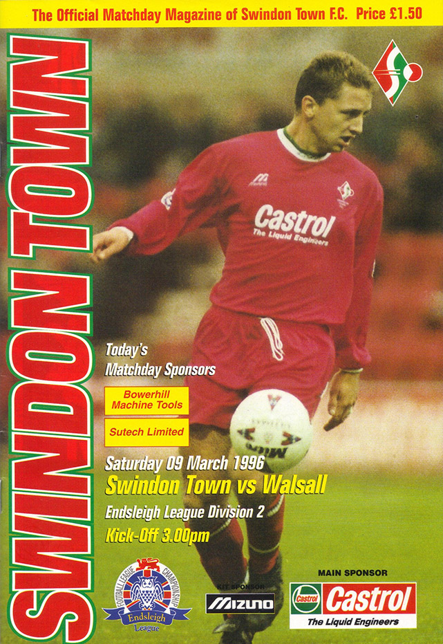 Saturday, March 9, 1996 - vs. Walsall (Home)