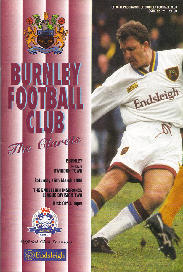 Saturday, March 16, 1996 - vs. Burnley (Away)