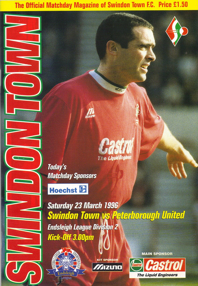 Saturday, March 23, 1996 - vs. Peterborough United (Home)