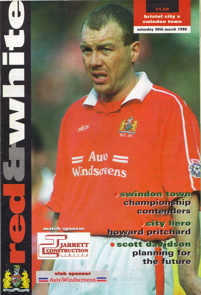 Saturday, March 30, 1996 - vs. Bristol City (Away)