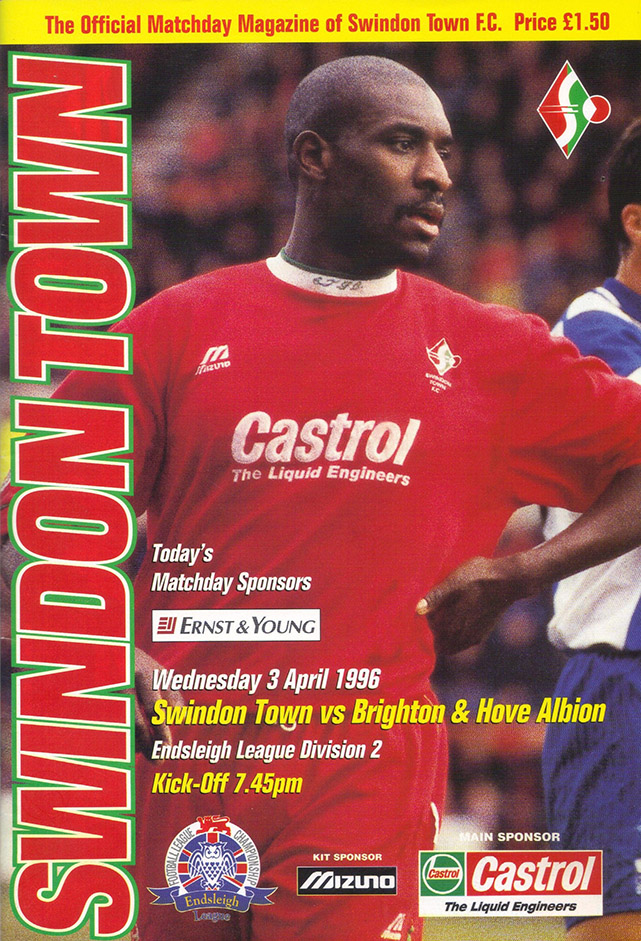 Wednesday, April 3, 1996 - vs. Brighton and Hove Albion (Home)