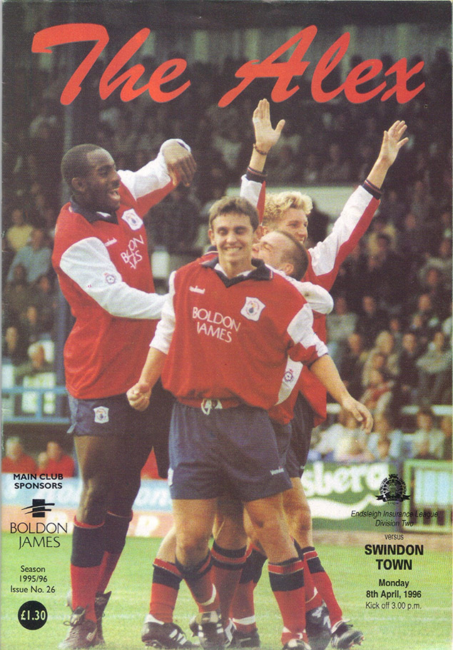Monday, April 8, 1996 - vs. Crewe Alexandra (Away)