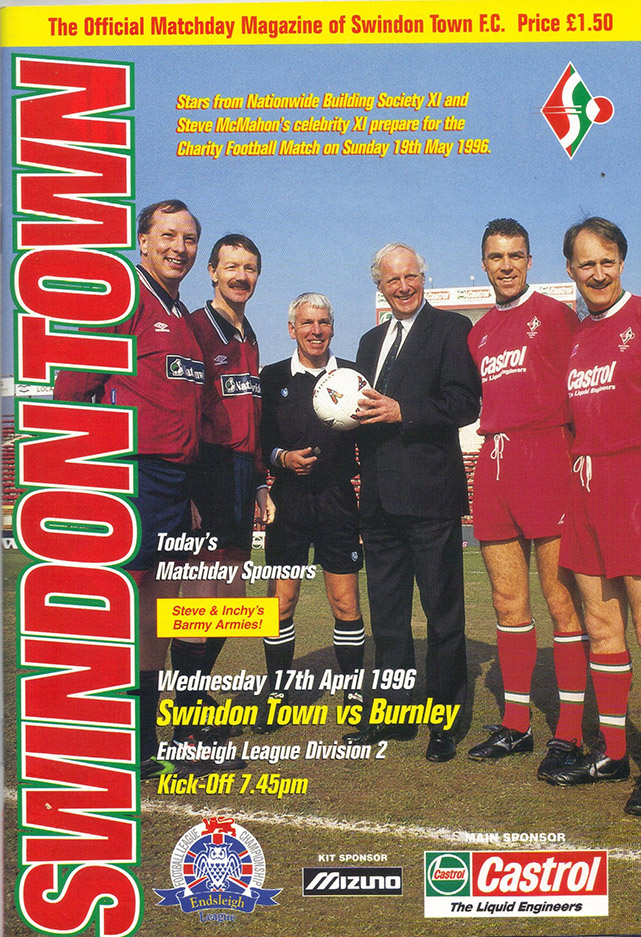 Wednesday, April 17, 1996 - vs. Burnley (Home)