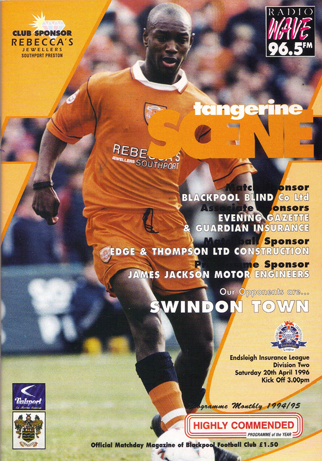Saturday, April 20, 1996 - vs. Blackpool (Away)