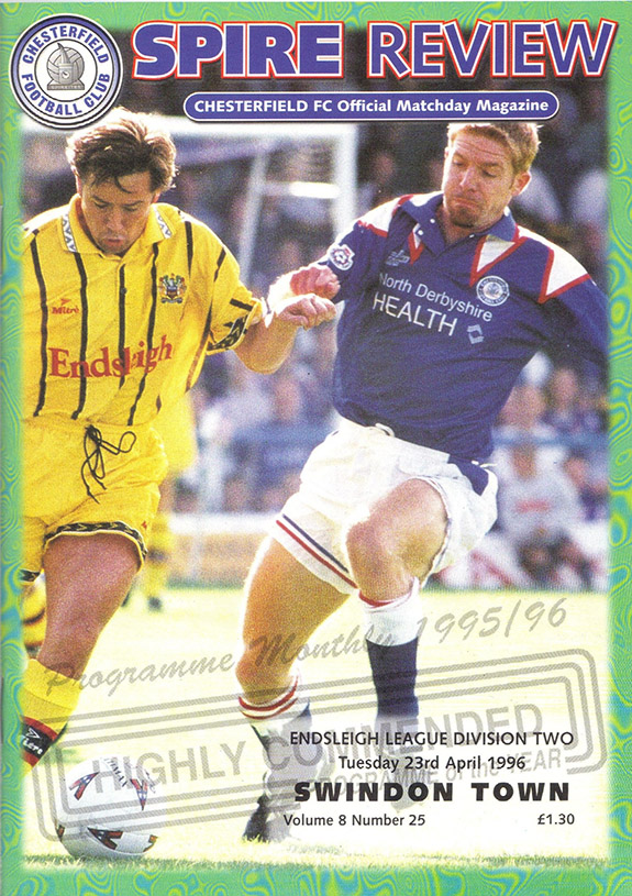 Tuesday, April 23, 1996 - vs. Chesterfield (Away)