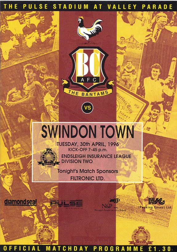 Tuesday, April 30, 1996 - vs. Bradford City (Away)