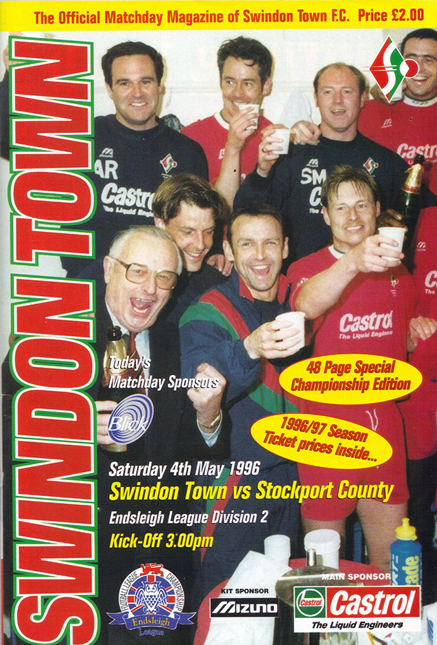 Saturday, May 4, 1996 - vs. Stockport County (Home)