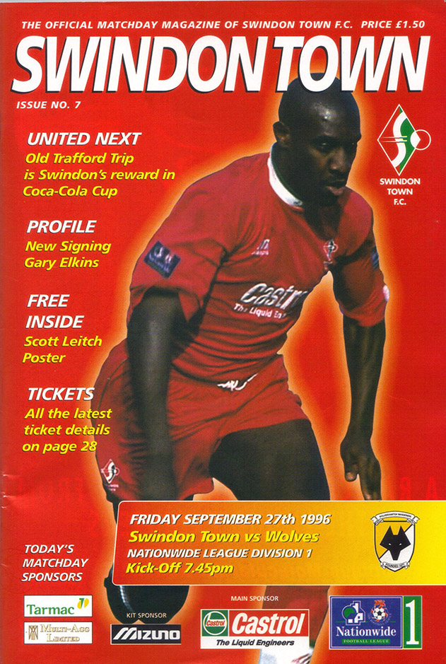 Friday, September 27, 1996 - vs. Wolverhampton Wanderers (Home)