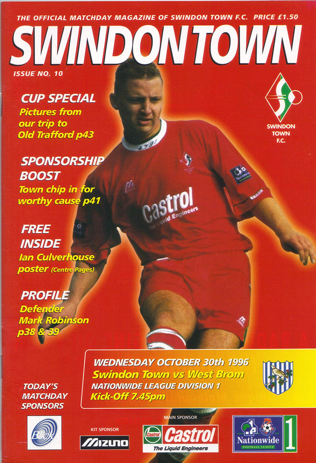Wednesday, October 30, 1996 - vs. West Bromwich Albion (Home)