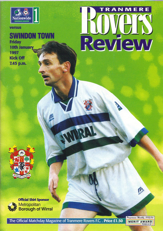 Friday, January 10, 1997 - vs. Tranmere Rovers (Away)