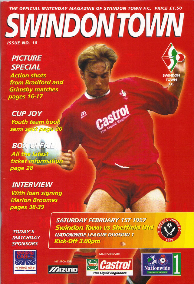 Saturday, February 1, 1997 - vs. Sheffield United (Home)