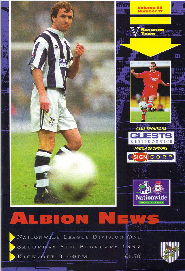 Saturday, February 8, 1997 - vs. West Bromwich Albion (Away)