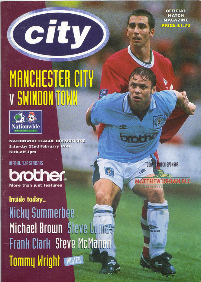 Saturday, February 22, 1997 - vs. Manchester City (Away)