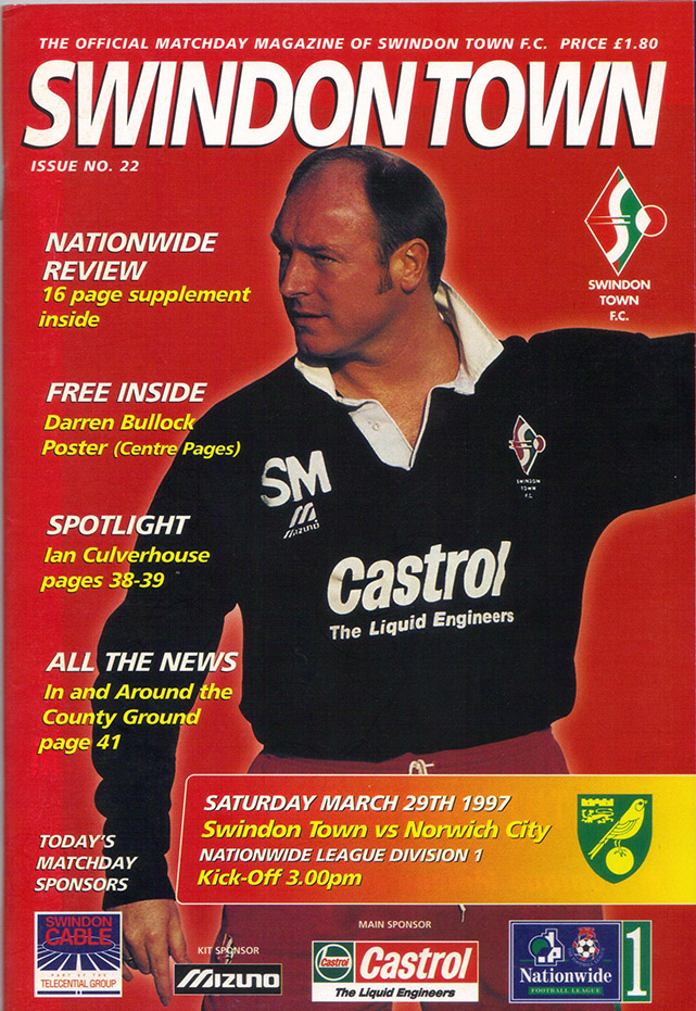 Saturday, March 29, 1997 - vs. Norwich City (Home)