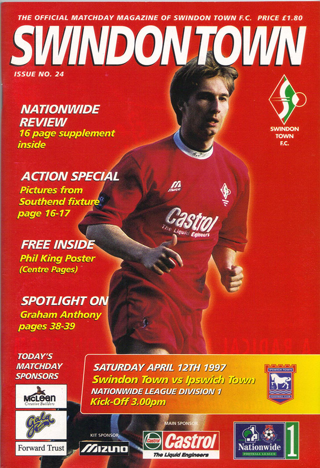 Saturday, April 12, 1997 - vs. Ipswich Town (Home)