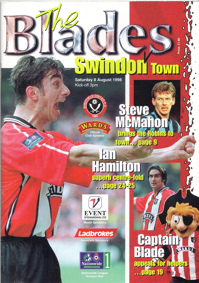 Saturday, August 8, 1998 - vs. Sheffield United (Away)