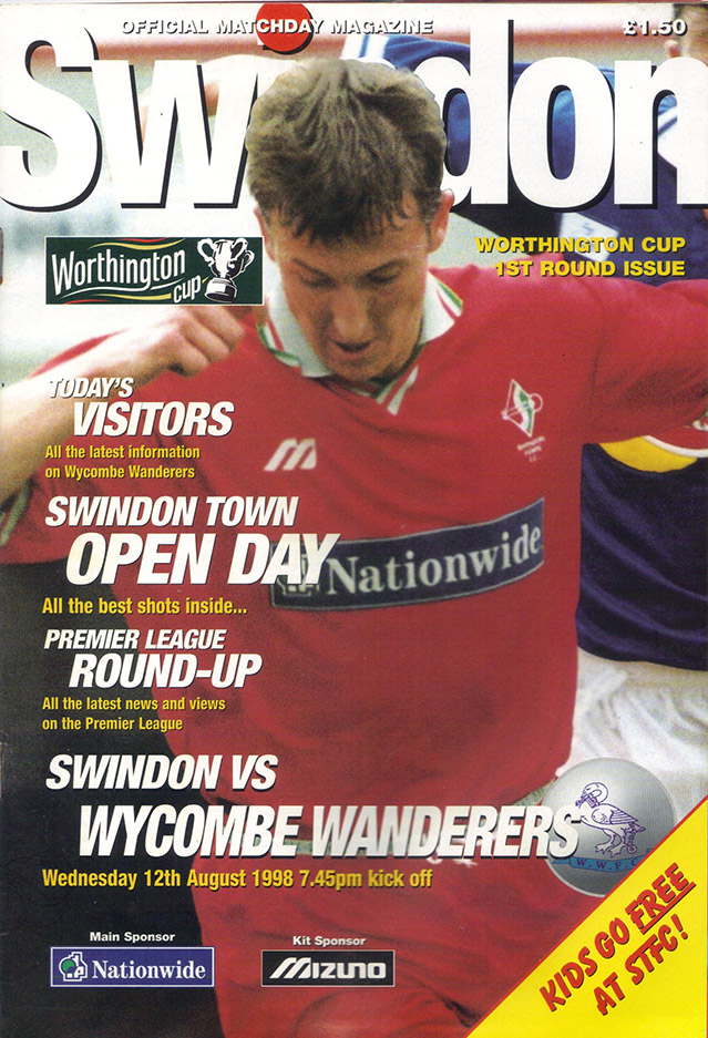 Wednesday, August 12, 1998 - vs. Wycombe Wanderers (Home)