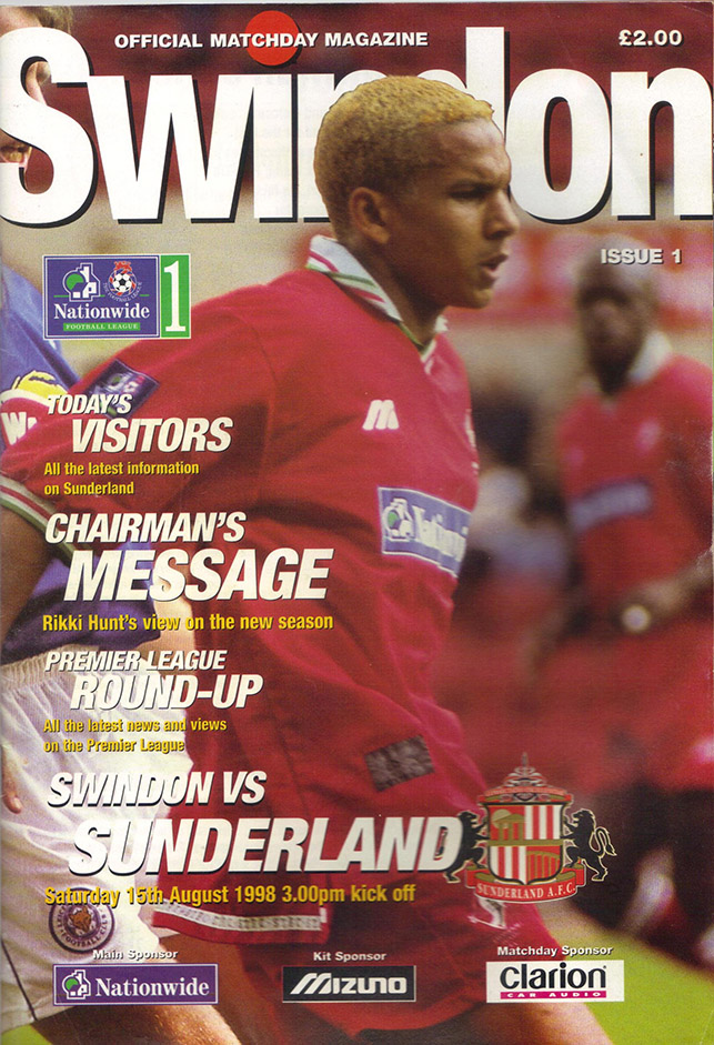 Saturday, August 15, 1998 - vs. Sunderland (Home)