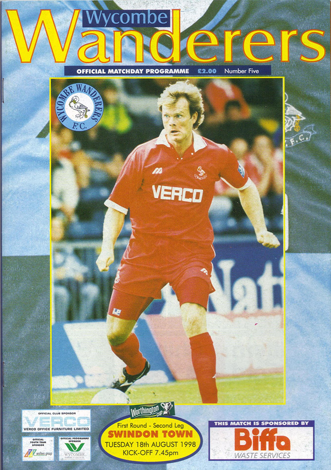 Tuesday, August 18, 1998 - vs. Wycombe Wanderers (Away)