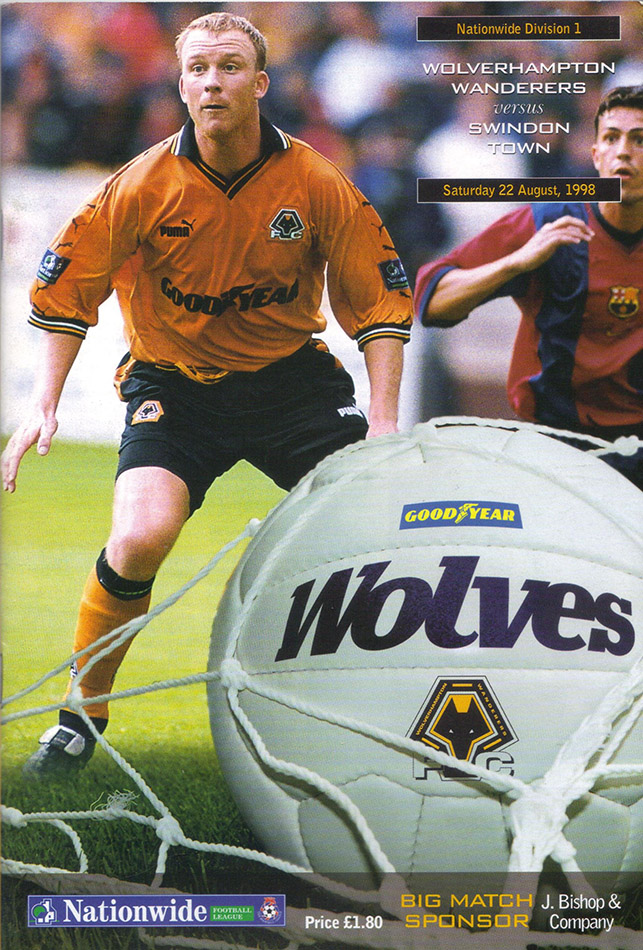 Saturday, August 22, 1998 - vs. Wolverhampton Wanderers (Away)