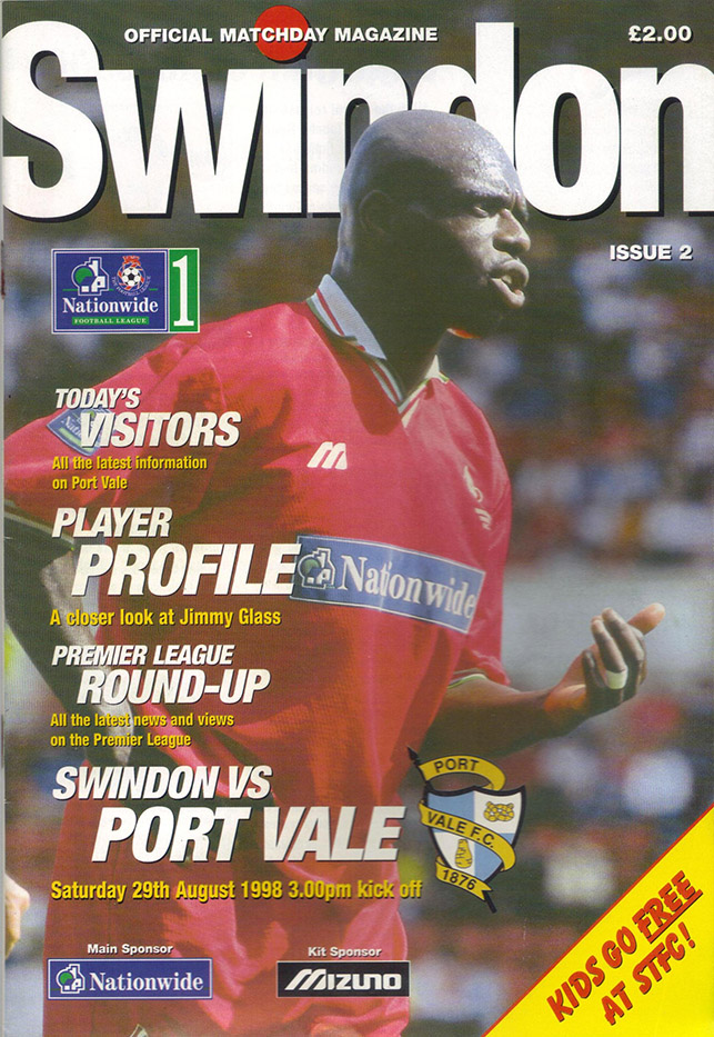 Saturday, August 29, 1998 - vs. Port Vale (Home)