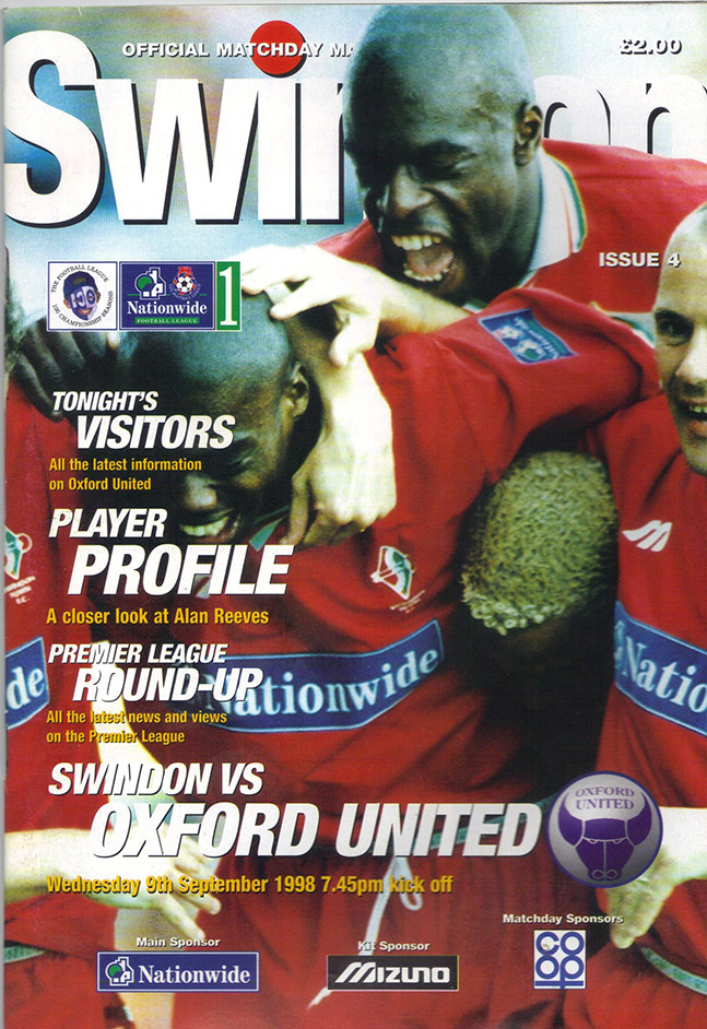 Wednesday, September 9, 1998 - vs. Oxford United (Home)