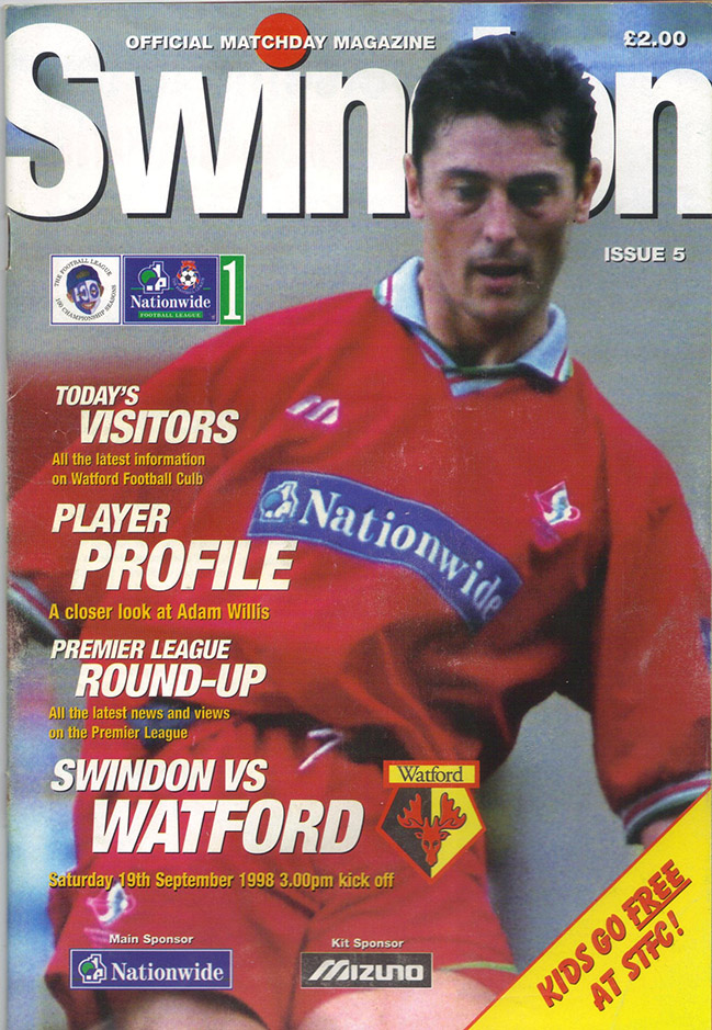 Saturday, September 19, 1998 - vs. Watford (Home)
