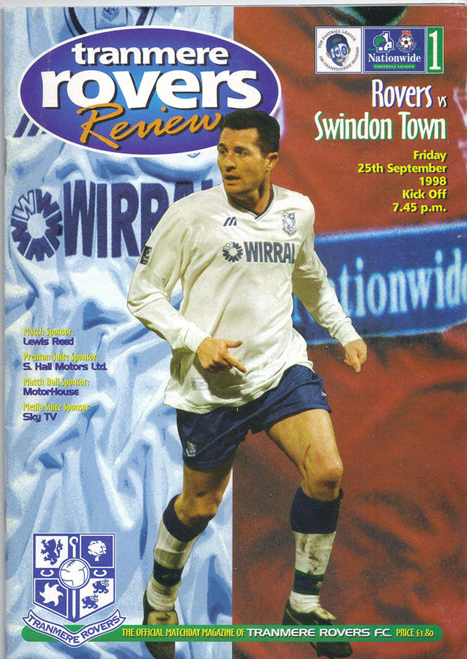 Friday, September 25, 1998 - vs. Tranmere Rovers (Away)
