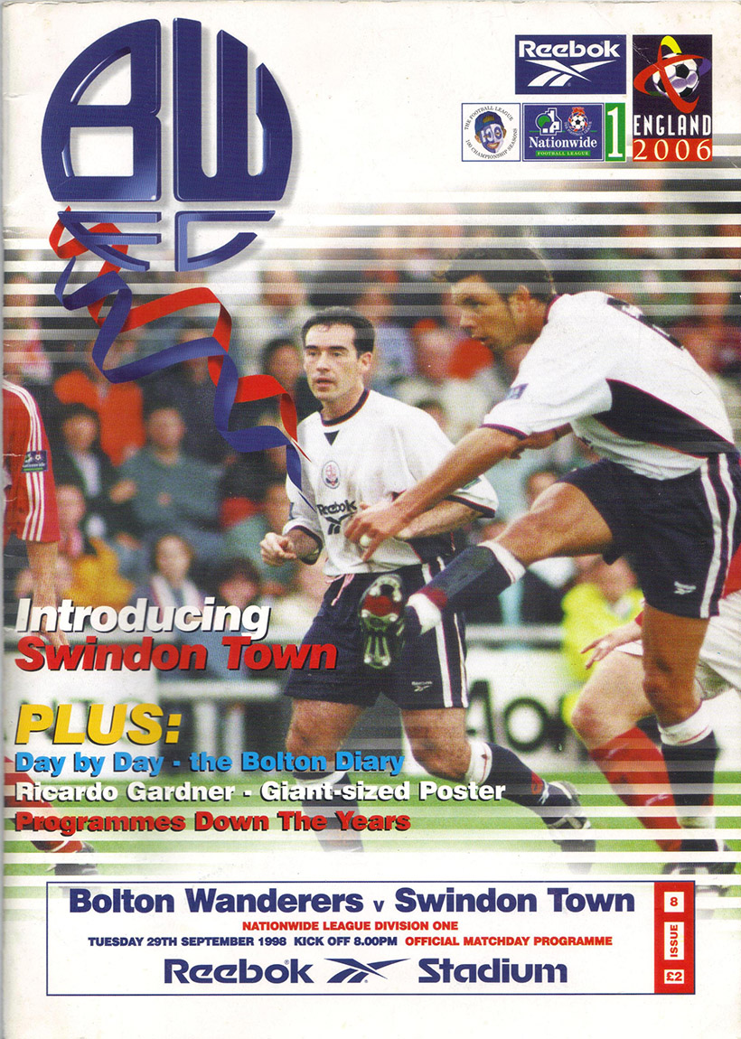 Tuesday, September 29, 1998 - vs. Bolton Wanderers (Away)