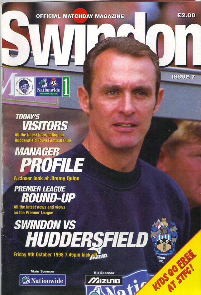 Friday, October 9, 1998 - vs. Huddersfield Town (Home)