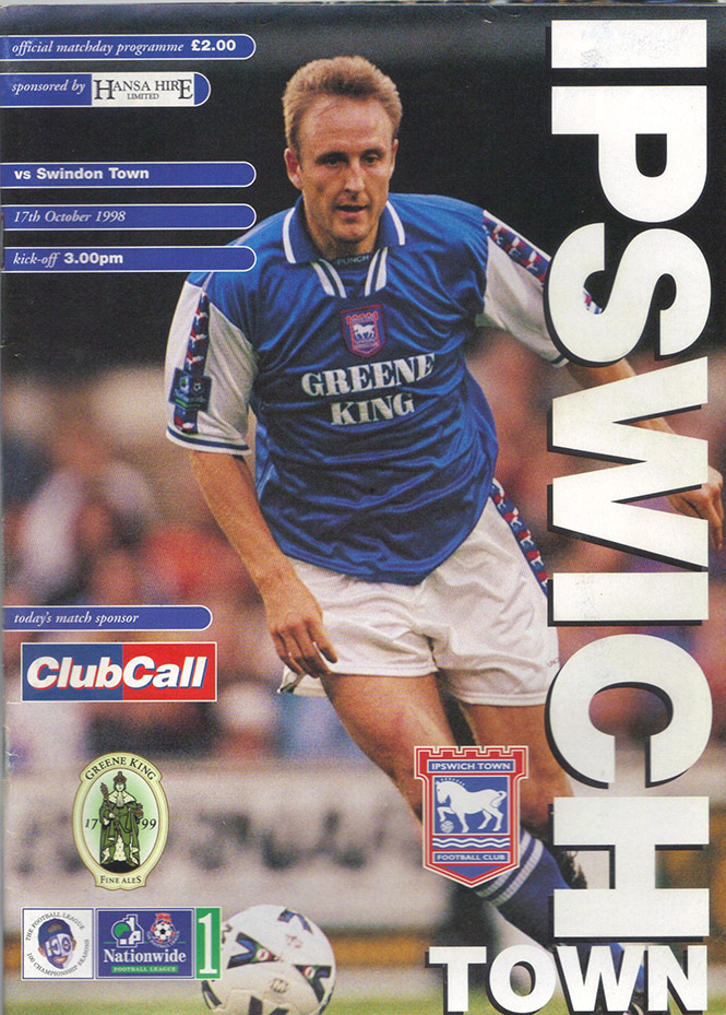 Saturday, October 17, 1998 - vs. Ipswich Town (Away)