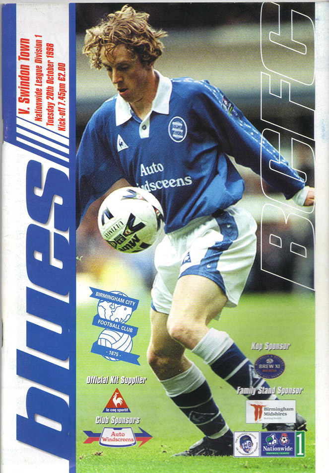 Tuesday, October 20, 1998 - vs. Birmingham City (Away)